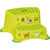 Baby Plus 1141740., Tritthocker 2-stufig OKT Funny Farm Grün (Baby Plus)