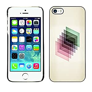 Omega Covers - Snap on Hard Back Case Cover Shell FOR Apple iPhone 5 / 5S - 3D Dimensional Polygon Glass Reflective