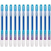 Bolígrafo Borrable Punta 0.7 mm –Bolígrafo de Tinta Borrable Recargable azul Paquete de 12 - Ezigoo