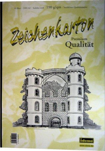 Preisvergleich Produktbild Zeichenkarton A2 190g 10Bl. 5er Pack