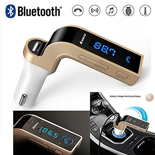 MeeCase Car G7 Bluetooth FM Transmitter With USB Flash Drives/TF Music Player Bluetooth Car Kit USB Car Charger Compatible For All Android & IOS Mobiles
