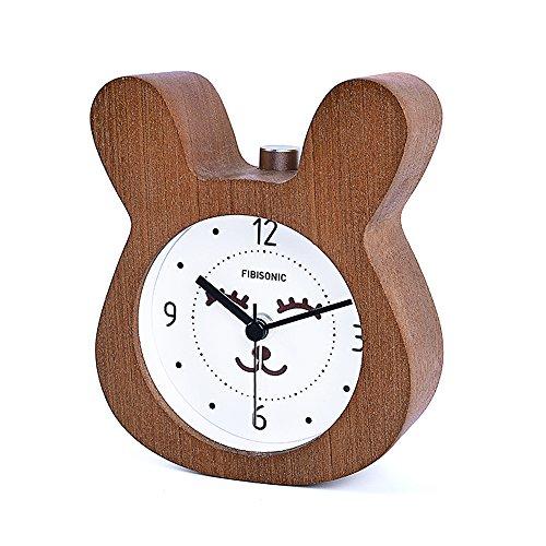 FiBiSonic Reloj Despertador Madera...