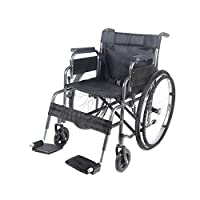 Britoniture Folding Wheelchair Puncture Resistant Portable Self Propelled Transit Comfort Wheelchair