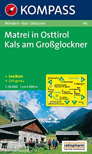 Carta escursionistica n. 46. Austria. Tirolo... Matrei in Osttirol-Kats am Grossglockner 1:50.000. Adatto a GPS. DVD-ROM. Digital map