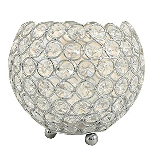 Metal Crystal Hollow out Bola Forma Vela