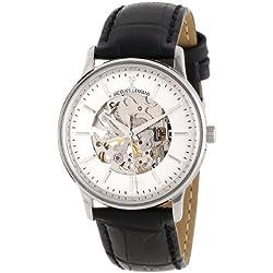 Jacques Lemans Nostalgie Gents Mechanical Black Leather Strap Watch N-207A