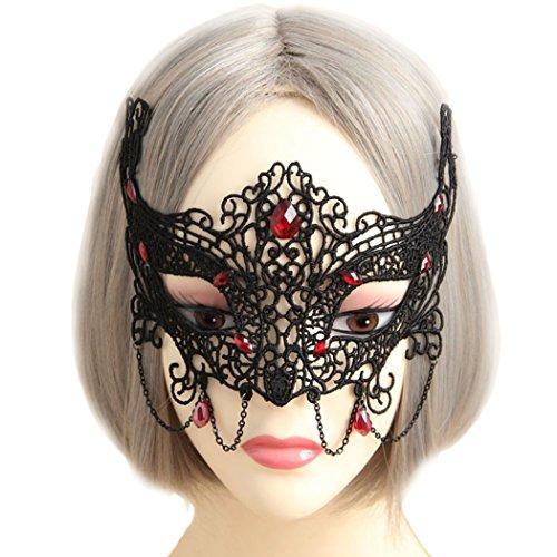 VENI MASEE Lace Maske Gothic Schwarz/weiß Vampir Masquerade Maske für Sex Partei Fancy Kleid Kostüm