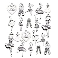Youdiyla 60 Ballet Charms Collection, Bulk Ballet Dancer Girl Shoe Ballerina Tutu I Love Ballet Charms Metal Pendant Craft Supplies Findings for Necklace and Bracelet Jewelry Making (HM290)