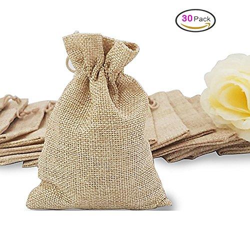 Sacchetti regalo gioielli sacchetto sacco di iuta coulisse matrimonio favore drawstring,30 pezzi dikete sacchetti regalo vintage borsa deposito sacchi per natalizie diy craft