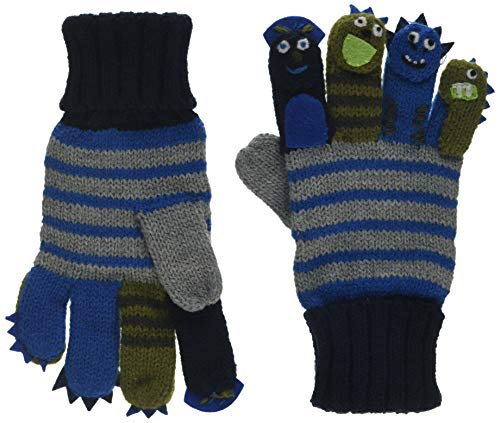Döll Baby-Jungen Fingerhandschuhe Strick Handschuhe, Grau (Light Gray Melange 8100), M (Herstellergröße: (Kind Grau Handschuhe)