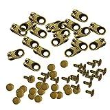 Gazechimp 20pcs Schnürsenkel Schnallen clips - Bronze, wie beschrieben