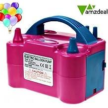 Amzdeal Électrique gonfleur ballon 600W,Pompe à air pour gonfler des ballons avec double buses d'air du ventilateur portable, Fonctionnement automatiquement et semi-automatiqueent, Idéal pour les fêtes et événements.