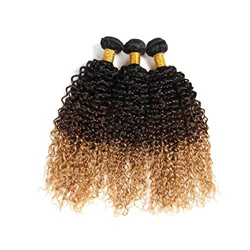 SS 100% vierge cheveux Trames 7 A + + de qualité 30,5–66 cm Choosable Ombre Frisés (# 1B- # 4- # 27)