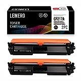 LEMERO Kompatibel HP CF217A 17A Tonerkartusche [mit Chip] für HP Laserjet Pro M102A M102W HP Laserjet Pro MFP M130a M130nw M130fn M130fw Drucker,2X Schwarz