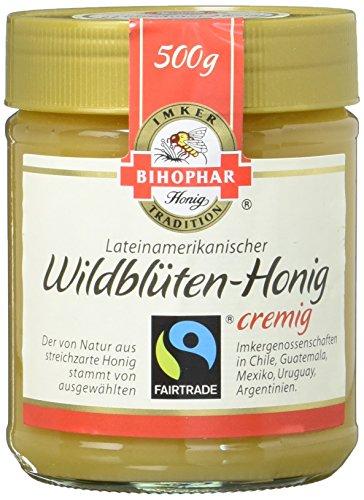 Bihophar FairTrade Lateinamerikanischer Wildblüten Honig cremig, 500 g