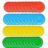 yyuezhi Piatti 40 Vassoio in Carta Tinta Unita Vassoio Monouso Vassoio Tondo Rotondo Compleanno Accessori per la Festa Nuziale BBQ Ideale per Biscotti al Formaggio Frutta e Dolci