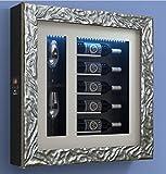 Dafnedesign.com Weinkühler für fünf Flaschen waagerecht und zwei horizontale Gläser Metallgestell Aluminiumtür Holzrahmen / hpl Glaskammer 20 mm Magnetdichtung Innenwand aus Laminat mit LED-Beleuchtung. Thermoelektrische Anlage Automatische Abschaltung Luftkühlung Anti-Vibrationssystem für Flaschen H.328 D.90 mm - kwh/annum 60 Gewicht 30 kg (SF00)