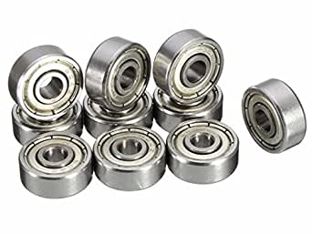 Invento 624ZZ_2 5 Pieces 4x13x5mm 4mm Radial Ball Bearings 3D Printer or Robotics or DIY Projects