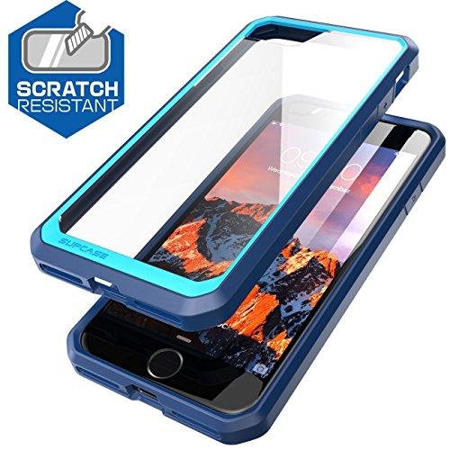 iPhone 7 Hülle, iPhone 8 Hülle, Supcase Unicorn Beetle Schutzhülle Premium Back Cover Transparente Handyhülle Case Schale für Apple iPhone 7 / iPhone 8, Frost/Schwarz Frost/Blau