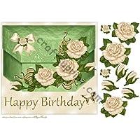 Cumpleaños BOXCard Yvory rosas por Marijke Kok