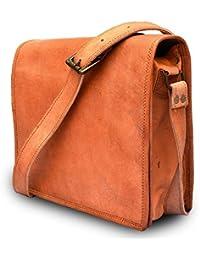 Vintage Handmade 13 Inch Leather Satchel Messenger Bag For Boy/girl/man/woman/unisex - B078ZZF7JJ