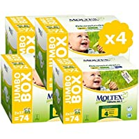 MOLTEX Couches Taille 4 Pack Ultra Eco - 7/18kg - - 296 couches jetables