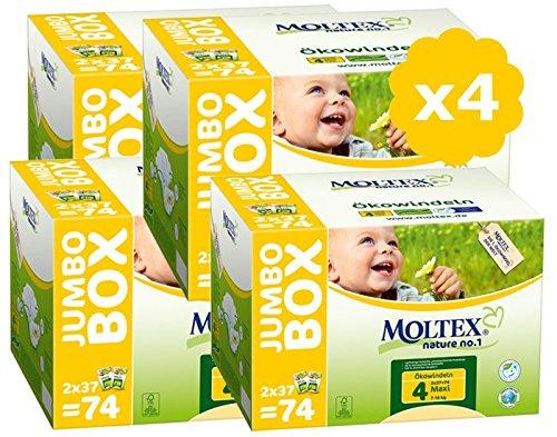 Moltex pañales talla 4Pack Ultra Eco–7/18kg–Lote de 4–296–Pañales desechables