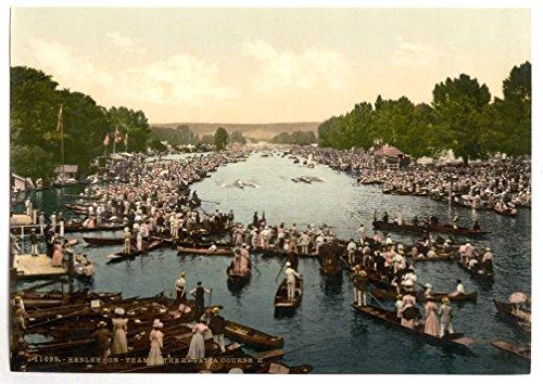Kamera Alte Kodak (Vintage Photography Henley Regatta, Henley Auf Themse C1890's 250gsm, Hochglanz, A3, vervielfältigtes Poster)