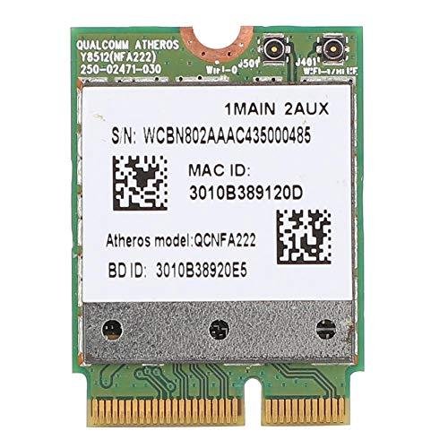 ASHATA Netzwerkkarte, für Qualcomm Atheros WiFi-Karte Dual-Band 802.11abgn mit Bluetooth 4.0, M.2 NGFF-Schnittstelle Bluetooth Dual-Band 2,4/5,8G 300 Mbit/s Netzwerkkarte