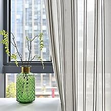 Rayas cortinas y Drapes tamaño grande moderno Simple color sólido semi-shading cortina ventana Screening