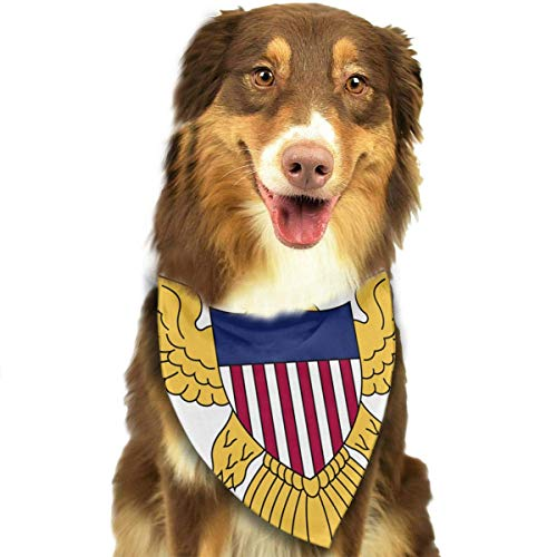 Rghkjlp Flag of The United States Virgin Islands Pet Bandana Washable Reversible Triangle Bibs Scarf - Kerchief for Small/Medium/Large Dogs & Cats - Chief Seide