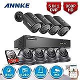 ANNKE Kit Videosorveglianza DVR 1080P Lite 8 Canali 4 Dom + 4 Bullet Camera di Sorveglianza 960P Videocamera Sorveglianza Email Allarme 3 Snapshot H.264+ Manuale Italiano IP66 P2P 1TB HDD.
