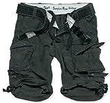 Surplus Division Herren Cargo Shorts, blackcamo, XXL