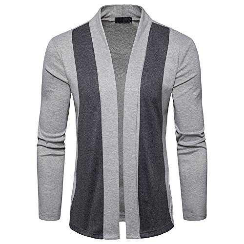 FRAUIT Winter Frühling Herren Strickjacke Männer Patchwork Lange Mantel Urban Basic Gesteppte Bomberjacke Golfjacken Mode Streetwear