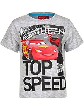 Disney Cars T-Shirt für Kinder, original Lizenzware, grau, Gr. 98 - 128