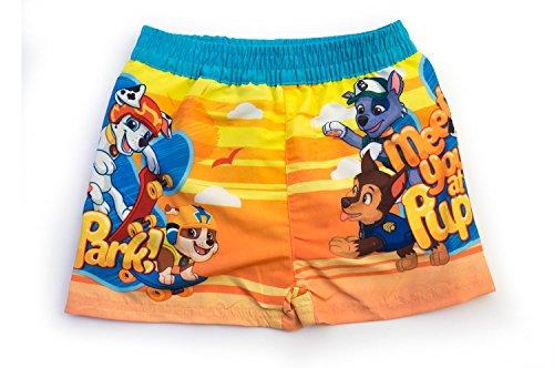 Paw patrol - costume boxer mare piscina con mutandina in rete e piccola tasca interna - bambino - novità prodotto originale 1681eqd [azzurro - giallo - 6 anni - 116 cm]
