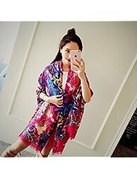76baaf3b9784 Le printemps et l été en coton d écharpe châle femme vent national à l été  pour Serviette de plage Sun Beach Resort…