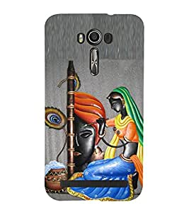 99Sublimation Lord Krishna and Mira 3D Hard Polycarbonate Back Case Cover for Asus Zenfone 2 Laser ZE601KL