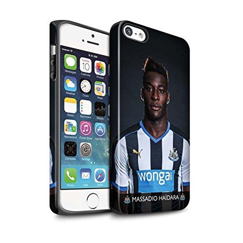 Offiziell Newcastle United FC Hülle / Matte Harten Stoßfest Case für Apple iPhone 5/5S / Pack 25pcs Muster / NUFC Fussballspieler 15/16 Kollektion Haïdara