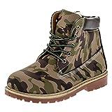 Classic Boots für Jungen und Mädchen Unisex Stiefel Reißverschluss Schnürsenkel M221camo Camouflage Grün 36 EU