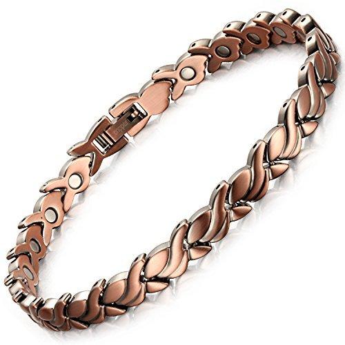 Rainso magnetisches Armband aus Kupfer gegen Arthritis, für Frauen und Männer gleichermaßen geeignet