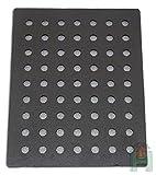 Ofenrost Kaminrost Grillrost Gussrost für Backofen Ofen Holzofen Steinofen Eckig aus Gusseisen | Maße: 238x295 mm