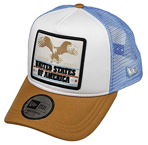 Oregon, Eagle (A New ERA Unisex-Erwachsene Oregon Eagle 940 Af Trucker Ne Sfp Kappe, weiß, Einheitsgröße)
