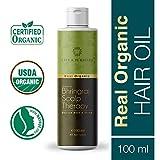 Life & Pursuits Organic Hair Oil For Hair Growth With Bhringraj, Amla, Coconut Oil & Castor Oil (100ml)