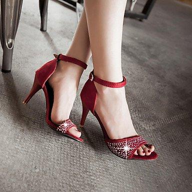 LvYuan Da donna-Sandali-Matrimonio Formale Serata e festa-Altro D'Orsay Club Shoes-A stiletto-Finta pelle-Nero Verde Rosso Red