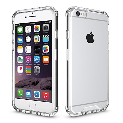 Cover per iPhone 6,per iPhone 6S Custodia, ZCRO Cristallo Chiaro Trasparente Rigida Hard Dura Back Case Silicone Morbida Frame Protettiva Antiurto Anticaduta Bumper Cover Custodia per iPhone 6/6S 4.7 Telaio Trasparente