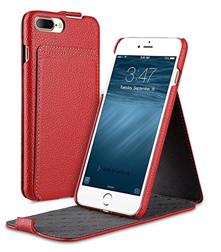 Apple Iphone 7 Melkco Jacka Type Premium Leather Case with Premium Leather Hand Crafted Good Protection,Premium Feel-Red LC Red LC 5