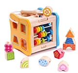 Multifunktions-Vorschule-frühe pädagogische Entwicklung Hölzerne Puzzlespiel-Spielzeug-Kasten, Geburtstags-Geschenk-Spielzeug für Alter 3 4 5 Kind-Kind-Kleinkind-Baby-Jungen-Mädchen