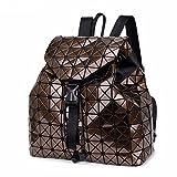 Gxinyanlong - Mochila de Viaje, diseño geométrico de lencería para Mujer, marrón