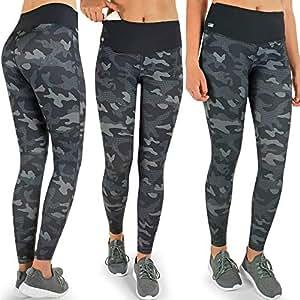 Formbelt Pantalone da Corsa da Donna Taschino Elasticizzato da Taschino Lungo da Taschino per Smartphone (Camouflage, S)